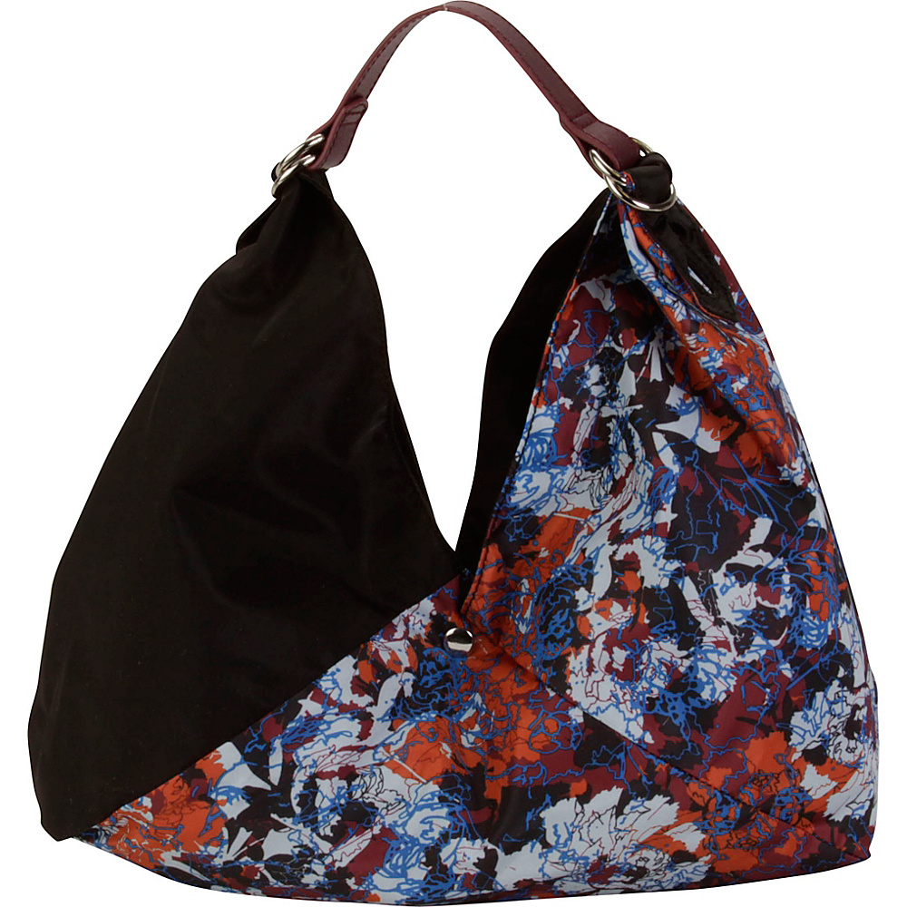Hadaki Small Origami Tote Watercolors/Black - Hadaki Leather Handbags - Handbags, Leather Handbags