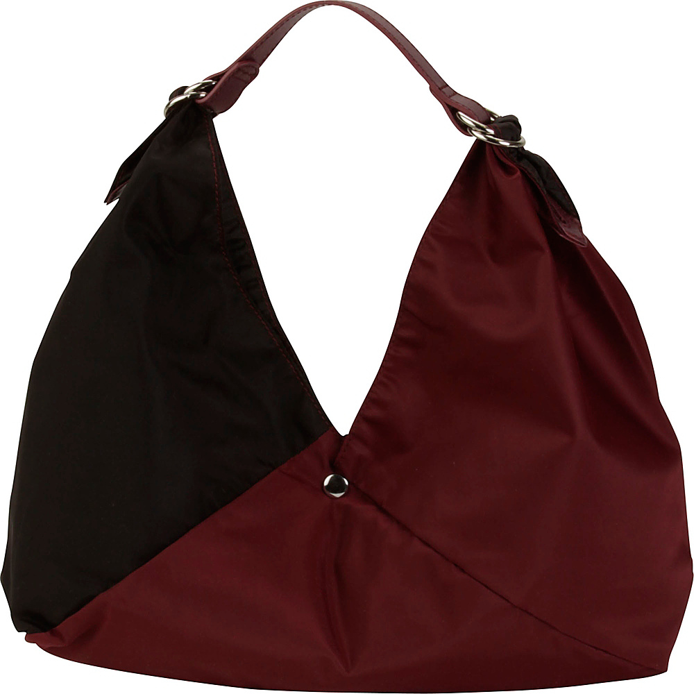 Hadaki Small Origami Tote Wine/Black - Hadaki Leather Handbags - Handbags, Leather Handbags