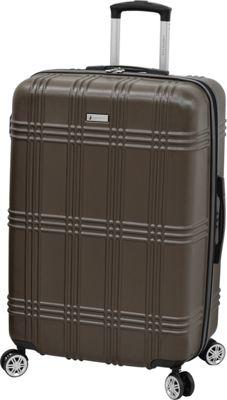 London Fog Kingsbury 29 inch Expandable Hardside Spinner Coffee - London Fog Large Rolling Luggage