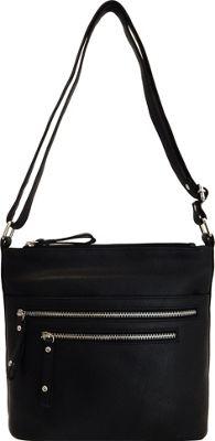 Great American Leatherworks Catania Adjustable Crossbody Black - Great American Leatherworks Leather Handbags