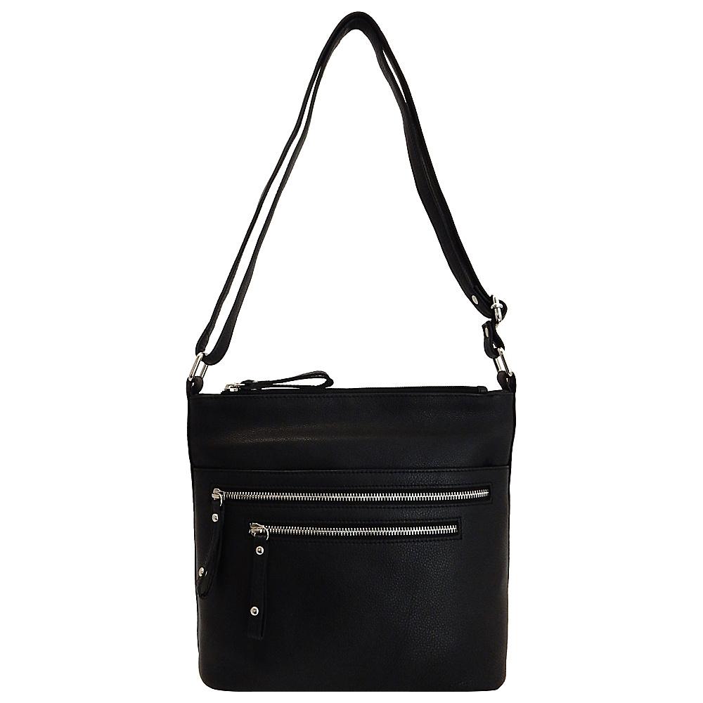 Great American Leatherworks Catania Adjule Crossbody Black Leather Handbags