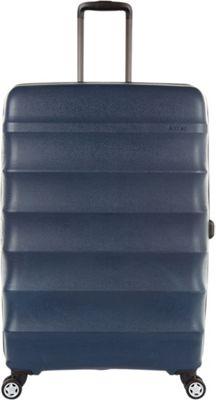 Antler Juno DLX 30 inch Expandable Hardside Checked Spinner Luggage Navy - Antler Hardside Checked