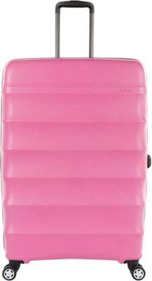 Antler Juno DLX 30 inch Expandable Hardside Checked Spinner Luggage Pink - Antler Hardside Checked