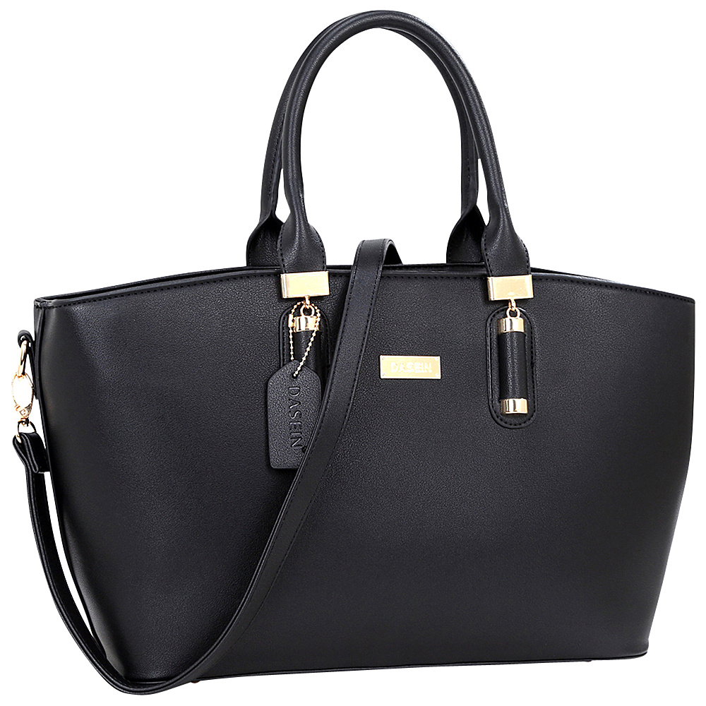 Dasein Fashion Work Satchel Black - Dasein Manmade Handbags - Handbags, Manmade Handbags