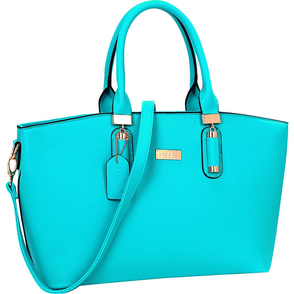 Dasein Fashion Work Satchel Blue - Dasein Manmade Handbags - Handbags, Manmade Handbags