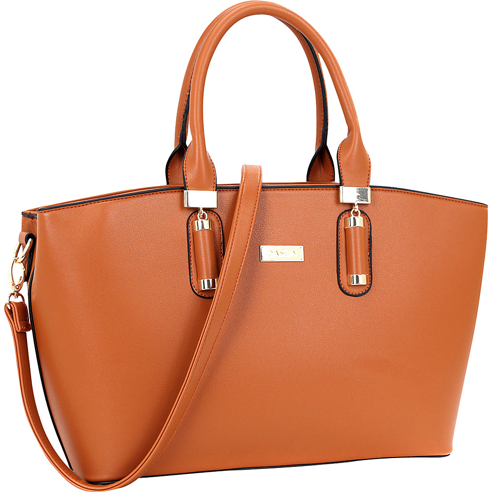 Dasein Fashion Work Satchel Brown - Dasein Manmade Handbags - Handbags, Manmade Handbags