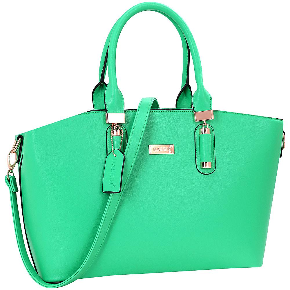 Dasein Fashion Work Satchel Green - Dasein Manmade Handbags - Handbags, Manmade Handbags
