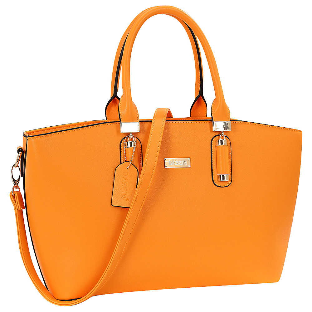 Dasein Fashion Work Satchel Orange - Dasein Manmade Handbags - Handbags, Manmade Handbags
