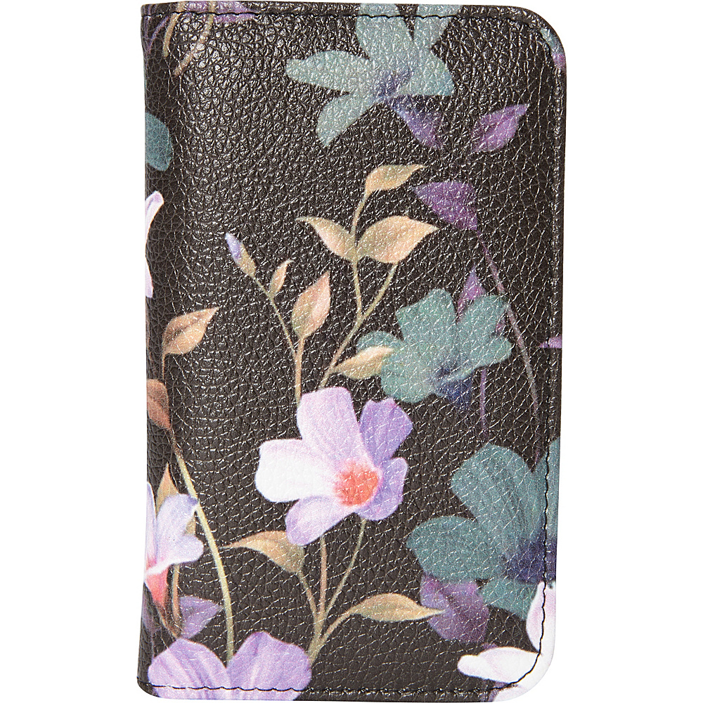 Buxton Midnight Floral Pik-Me-Up Snap Card Case Black - Buxton Womens Wallets - Women's SLG, Women's Wallets