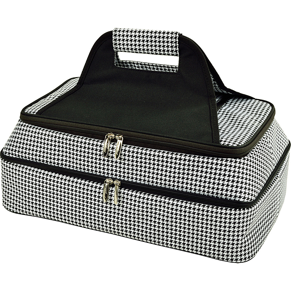 Picnic at Ascot Two Layer Hot/Cold Thermal Food & Casserole Carrier Houndstooth - Picnic at Ascot Travel Coolers - Travel Accessories, Travel Coolers