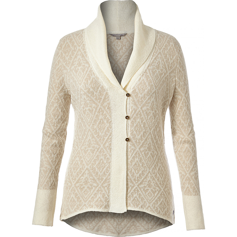 Royal Robbins Womens Autumn Rose Cardigan S - Creme - Royal Robbins Womens Apparel - Apparel & Footwear, Women's Apparel