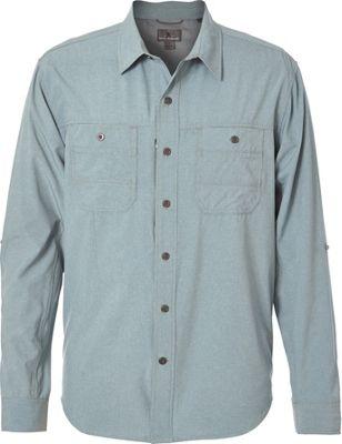 Royal Robbins Mens Long Distance Traveler Long Sleeve Shirt XL - Lead - Royal Robbins Men's Apparel
