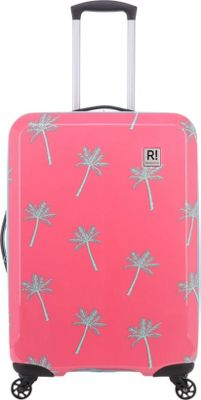 Revelation Antigua AX Max 27 inch Expandable Hardside Checked Spinner Luggage Coral - Revelation Hardside Checked