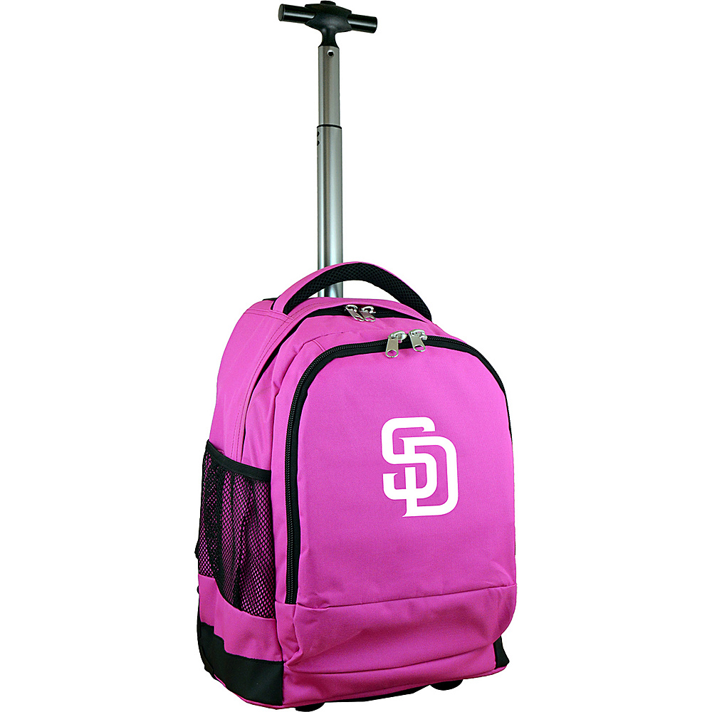 MOJO Denco MLB Premium Laptop Rolling Backpack San Diego Padres - MOJO Denco Rolling Backpacks - Backpacks, Rolling Backpacks