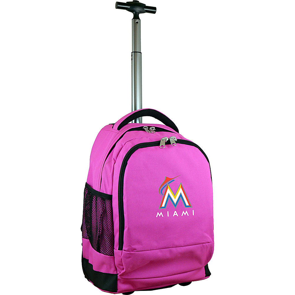 MOJO Denco MLB Premium Laptop Rolling Backpack Miami Marlins - MOJO Denco Rolling Backpacks - Backpacks, Rolling Backpacks