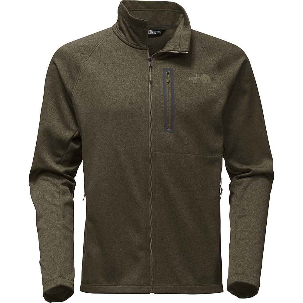 The North Face Mens Canyonlands Full Zip XL - New Taupe Green Heather - The North Face Mens Apparel - Apparel & Footwear, Men's Apparel