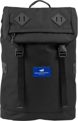 Alpine Division McKenzie Laptop Backpack Black Ripstop - Alpine Division Business & Laptop Backpacks