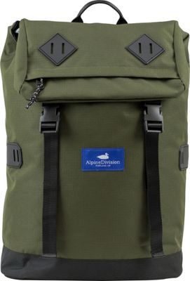 Alpine Division McKenzie Laptop Backpack Green Ripstop - Alpine Division Business & Laptop Backpacks