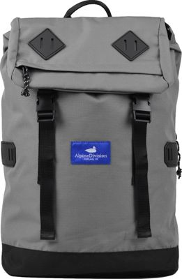 Alpine Division McKenzie Laptop Backpack Grey Ripstop - Alpine Division Business & Laptop Backpacks