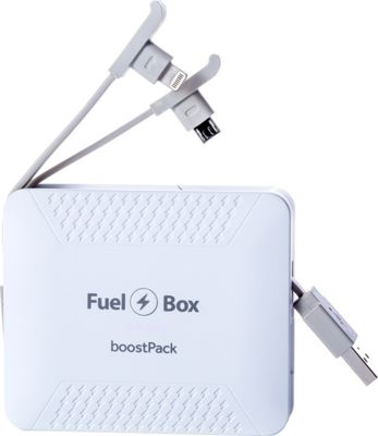FuelBox FuelBox BoostPack Portable Battery Moonrock White - FuelBox Portable Batteries & Chargers