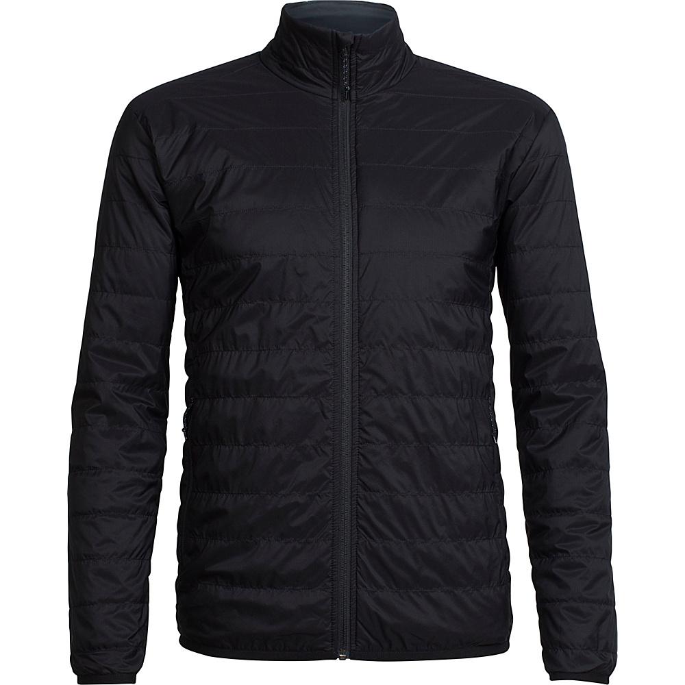 Icebreaker Mens Hyperia Lite Jacket L - Black - Icebreaker Mens Apparel - Apparel & Footwear, Men's Apparel