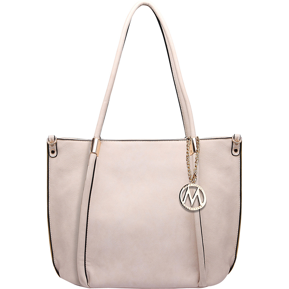 MKF Collection by Mia K. Farrow Lillian Tote Beige - MKF Collection by Mia K. Farrow Manmade Handbags - Handbags, Manmade Handbags