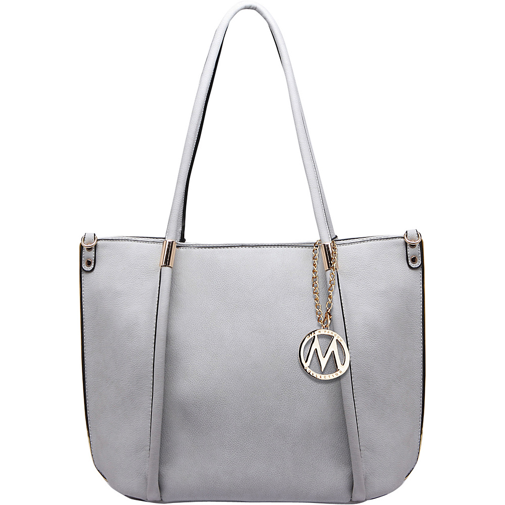 MKF Collection by Mia K. Farrow Lillian Tote Grey - MKF Collection by Mia K. Farrow Manmade Handbags - Handbags, Manmade Handbags