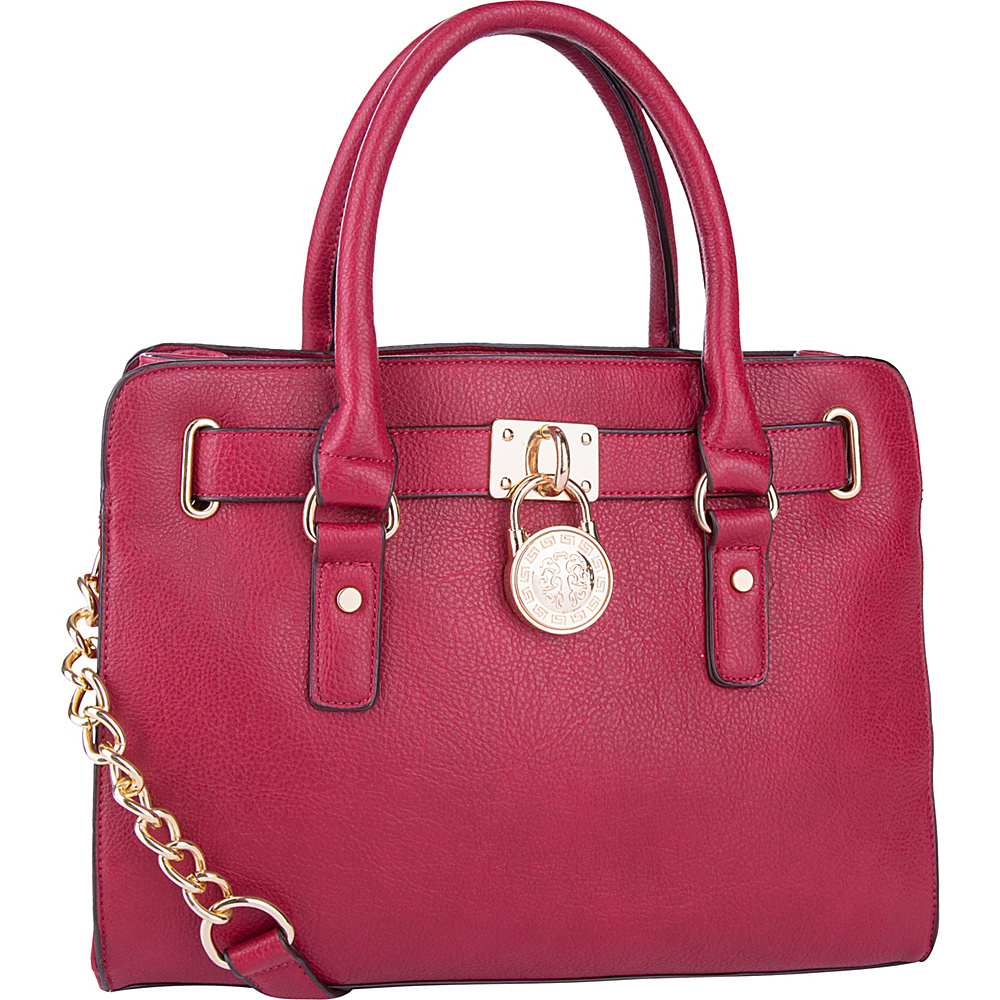 MKF Collection by Mia K. Farrow Cassie Satchel Red - MKF Collection by Mia K. Farrow Manmade Handbags - Handbags, Manmade Handbags