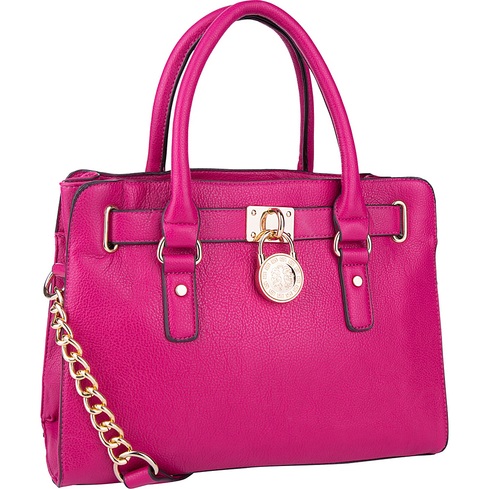 MKF Collection by Mia K. Farrow Cassie Satchel Fuchsia - MKF Collection by Mia K. Farrow Manmade Handbags - Handbags, Manmade Handbags