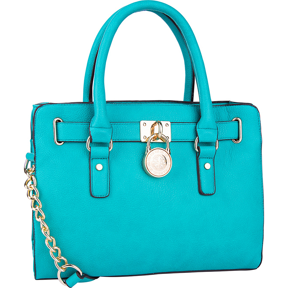 MKF Collection by Mia K. Farrow Cassie Satchel Turquoise - MKF Collection by Mia K. Farrow Manmade Handbags - Handbags, Manmade Handbags