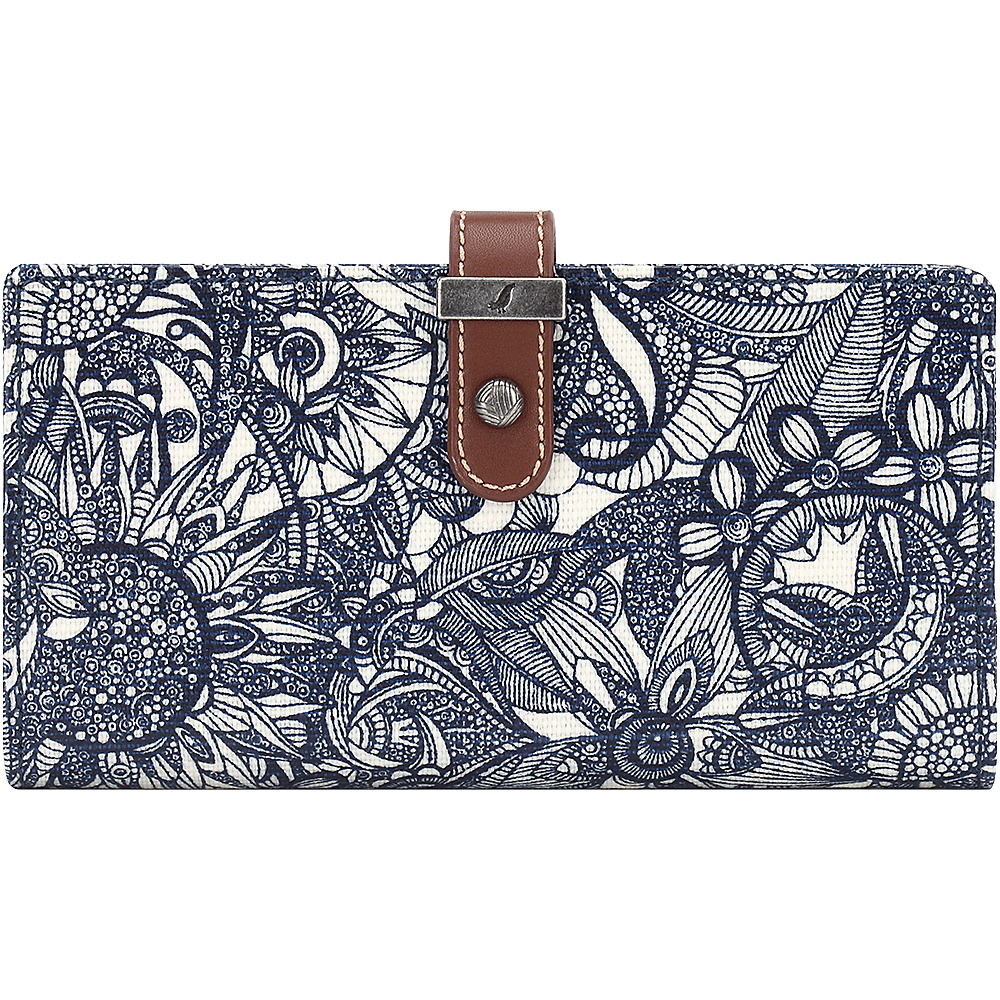 Sakroots Rae Slim Charging Wallet Navy Spirit Desert - Sakroots Womens Wallets - Women's SLG, Women's Wallets