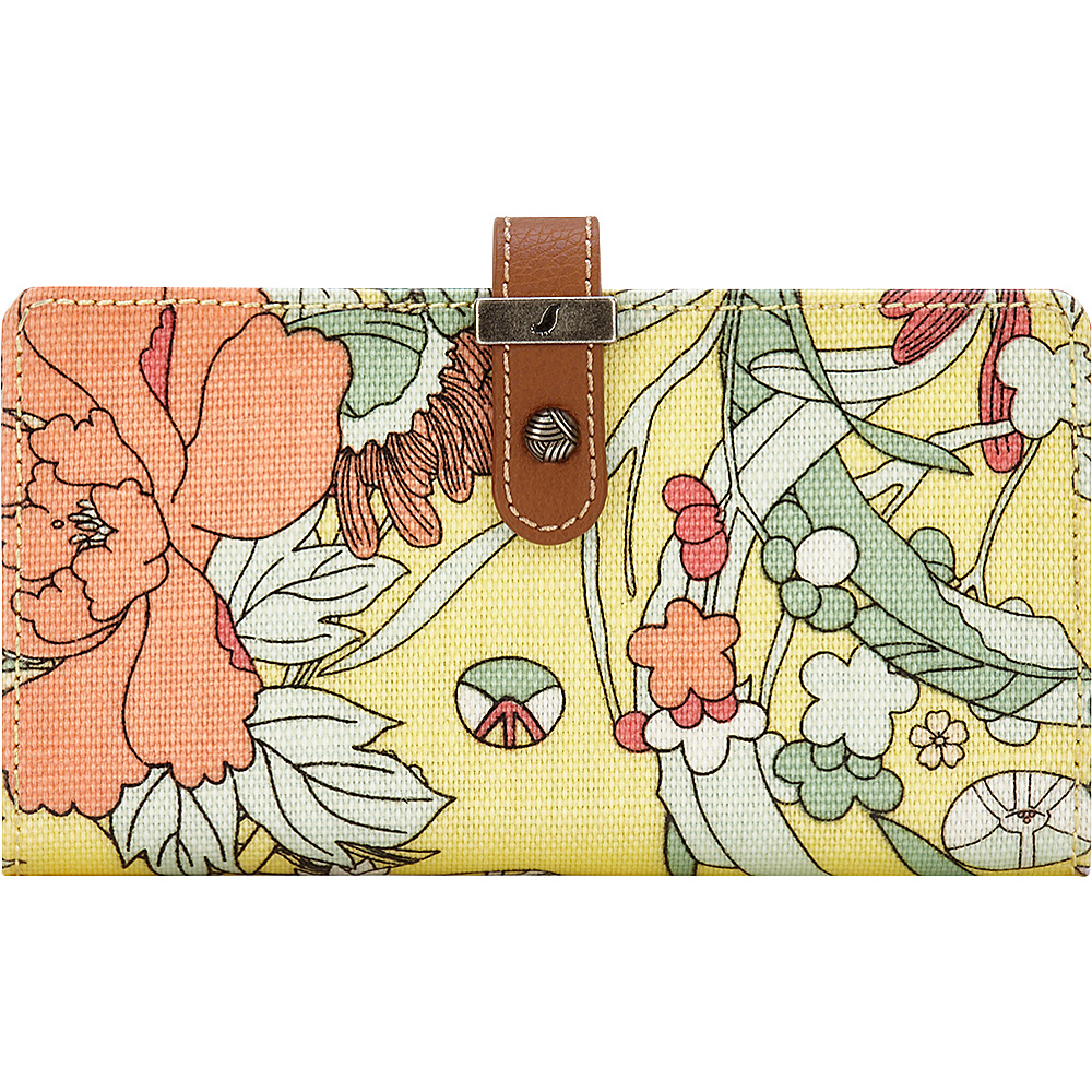Sakroots Rae Slim Charging Wallet Sunlight Flower Power - Sakroots Womens Wallets - Women's SLG, Women's Wallets