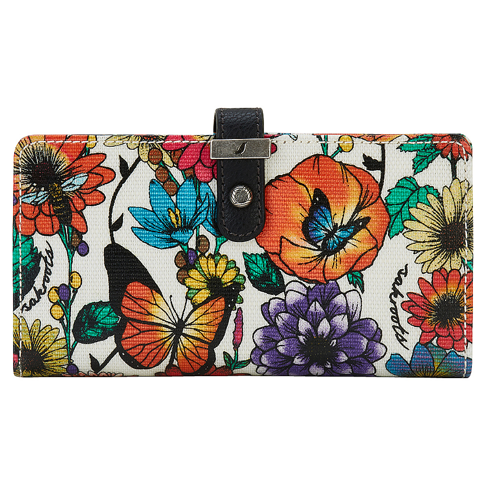 Sakroots Rae Slim Charging Wallet Optic In Bloom - Sakroots Womens Wallets - Women's SLG, Women's Wallets