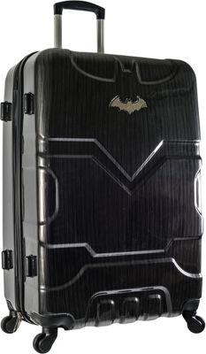 DC Comics Batman 26 inch Hardside Spinner Checked Luggage Black - DC Comics Hardside Checked