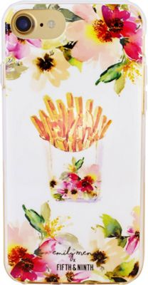 Fifth & Ninth iPhone 7 Slim Impact Resistant Bumper Case Flowers And Fries - Fifth & Ninth Electronic Cases