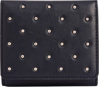 Phive Rivers Riveted Small Multi-Compartment Leather Wallet Blue - Phive Rivers Women's Wallets
