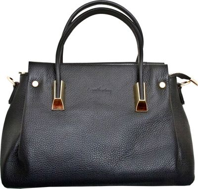 Leatherbay Bellano Tote Black - Leatherbay Leather Handbags