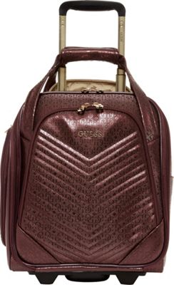 GUESS Travel Halley 16 inch Wheeled Underseater Carry-On Luggage Bordeaux - GUESS Travel Softside Carry-On