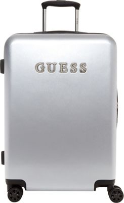 GUESS Travel Mimsy 24 inch Hardside Spinner Checked Luggage Silver - GUESS Travel Hardside Checked