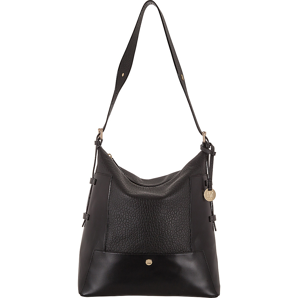 Lodis In The Mix RFID Emerson Convertible Hobo Jet - Lodis Leather Handbags - Handbags, Leather Handbags
