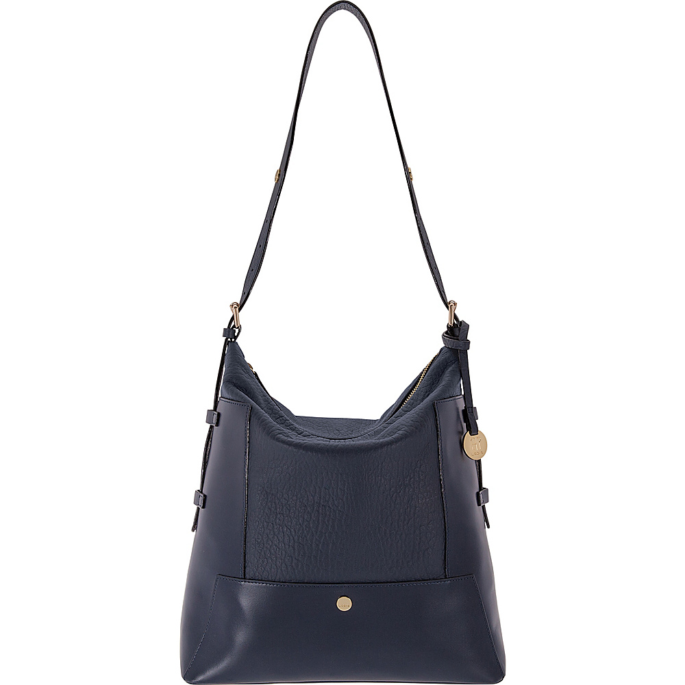 Lodis In The Mix RFID Emerson Convertible Hobo Navy - Lodis Leather Handbags - Handbags, Leather Handbags
