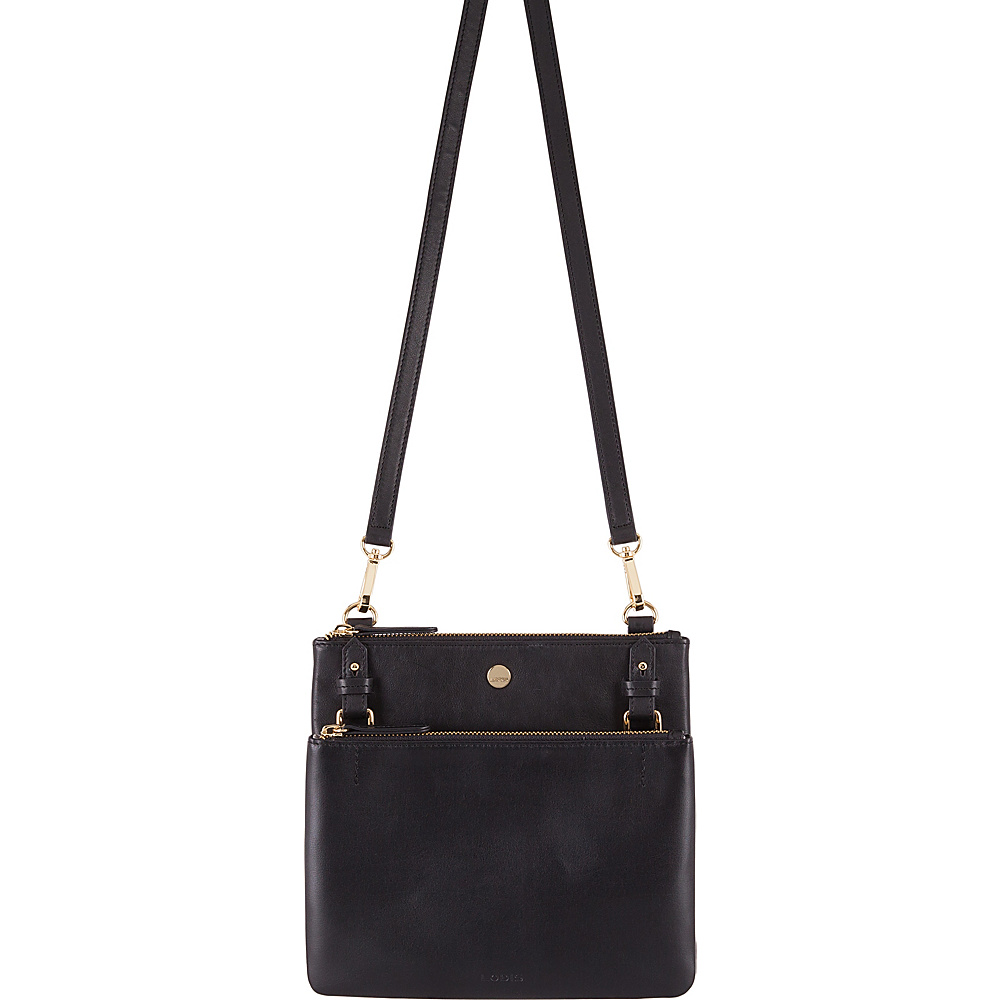 Lodis Downtown RFID Latisha Crossbody Black - Lodis Leather Handbags - Handbags, Leather Handbags