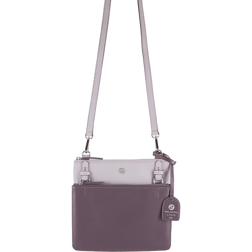 Lodis Downtown RFID Latisha Crossbody Cement/Lava - Lodis Leather Handbags - Handbags, Leather Handbags