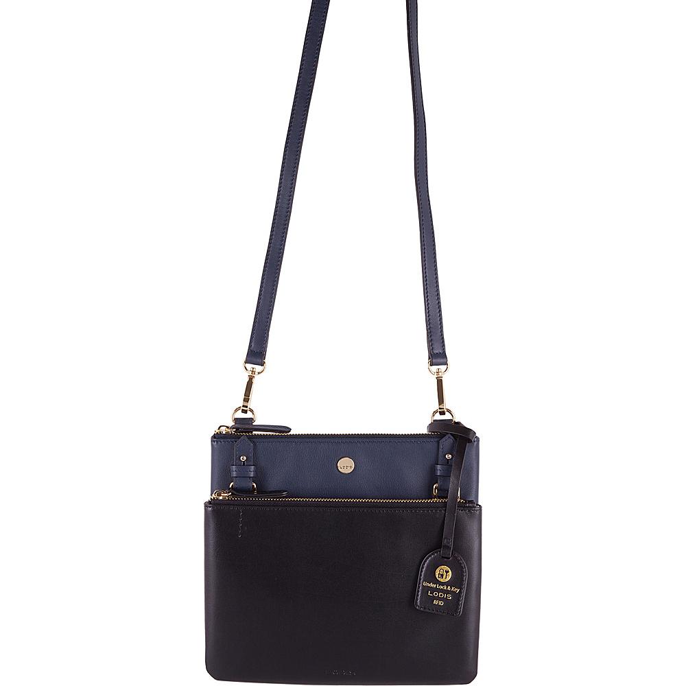 Lodis Downtown RFID Latisha Crossbody Navy/Black - Lodis Leather Handbags - Handbags, Leather Handbags