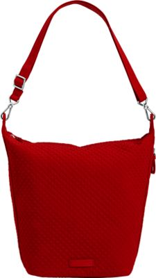 Vera Bradley Carson Hobo Bag - Solids Cardinal Red - Vera Bradley Fabric Handbags