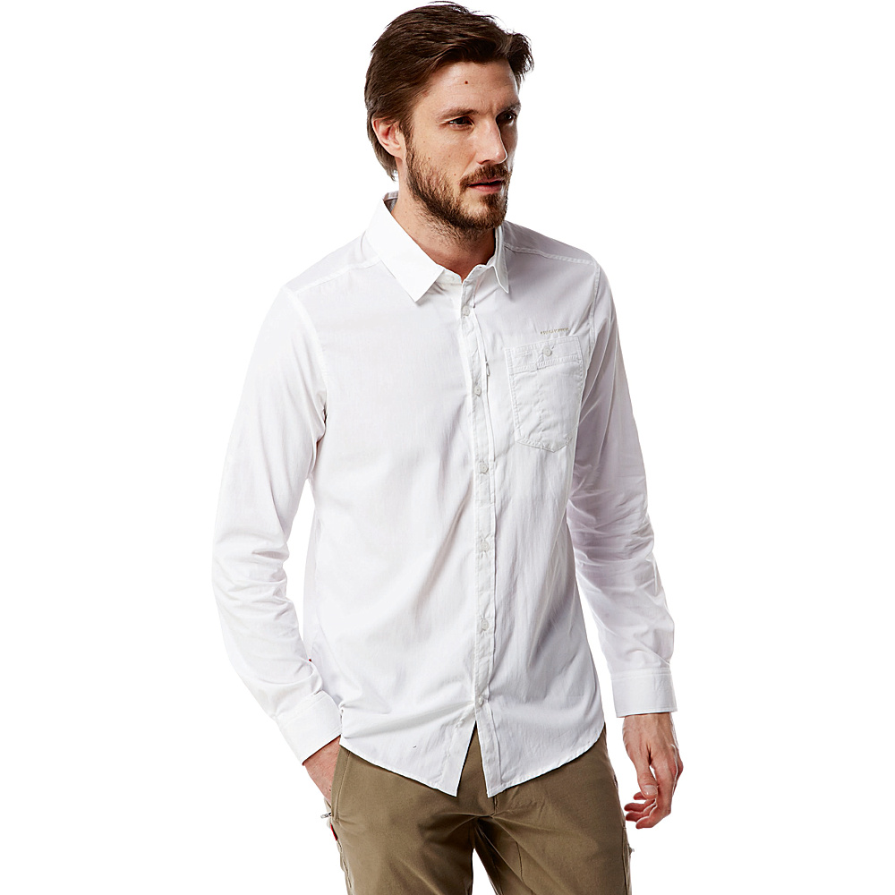Craghoppers NosiLife Tatton Long Sleeve Shirt S - Optic White - Craghoppers Mens Apparel - Apparel & Footwear, Men's Apparel