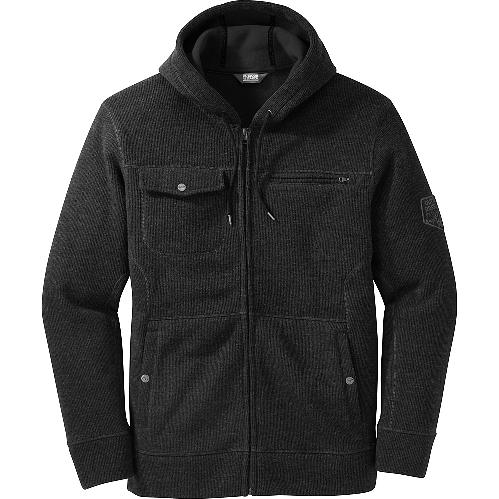 Outdoor Research Mens Exit Metro Hoody M - Black - Outdoor Research Mens Apparel - Apparel & Footwear, Men's Apparel