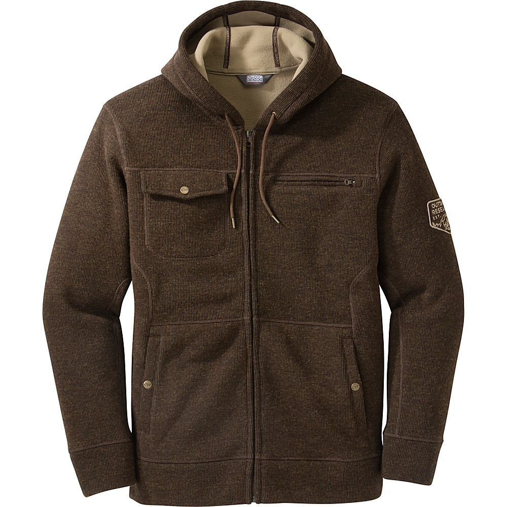 Outdoor Research Mens Exit Metro Hoody S - Earth - Outdoor Research Mens Apparel - Apparel & Footwear, Men's Apparel