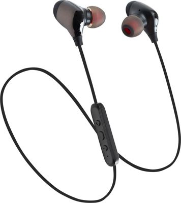 LAX Gadgets Sweatproof Bluetooth Wireless Sports Earbuds with Soft Caps and Mic Gunmetal - LAX Gadgets Headphones & Speakers