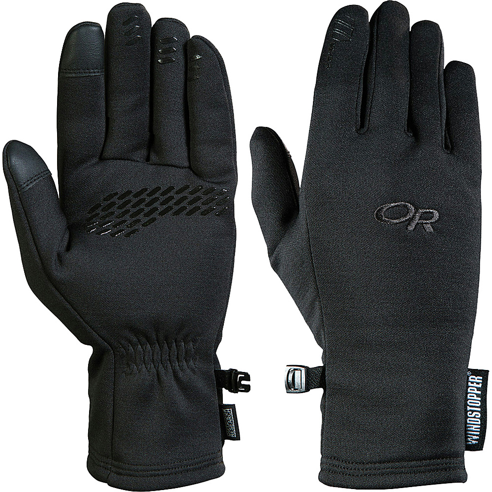 Outdoor Research Mens Backstop Sensor Gloves S - Black - Outdoor Research Hats/Gloves/Scarves - Fashion Accessories, Hats/Gloves/Scarves